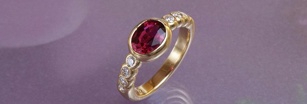 Ring Brillant/Rubellit