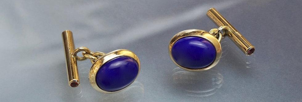Manschettenknöpfe Lapis Lazuli (oval)