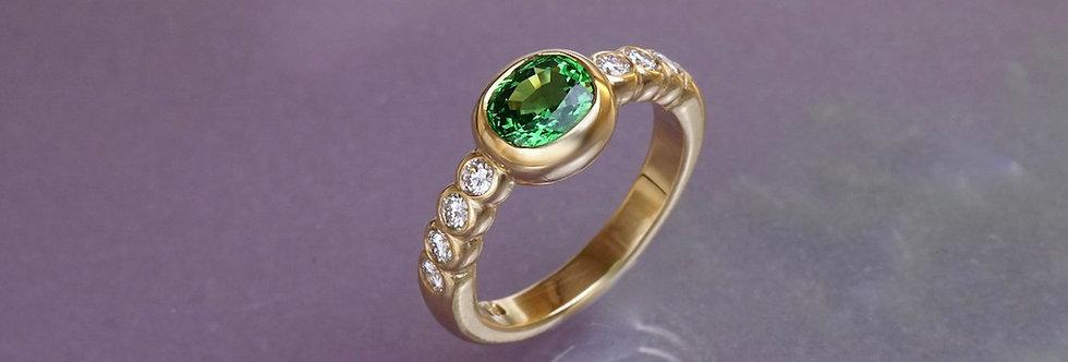 Ring Brillant/Tsavorit