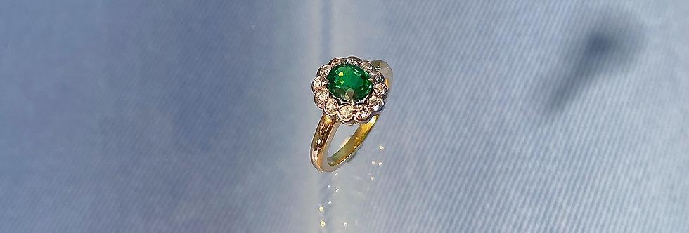 Ring Brillant/Tsavorit Princess