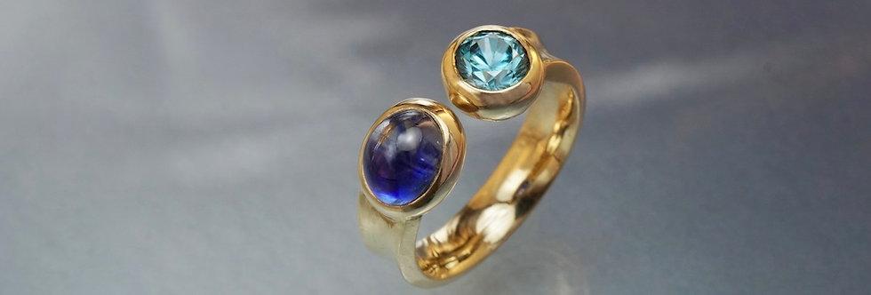 "Ring Saphir/Zirkon ""Duo"""