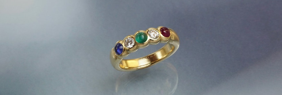 Ring Brillant/Tricolor Mémoire (halb)