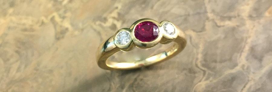 Ring Rubellit/Brillant