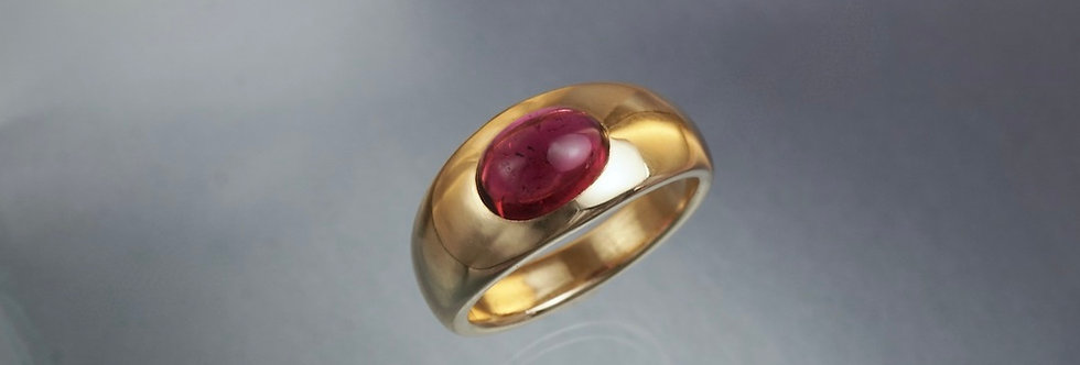 Ring Rubellit Cabochon