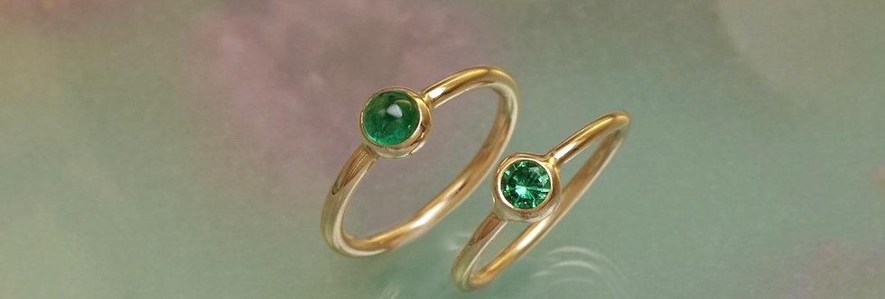 Ring Smaragd oder Tsavorit