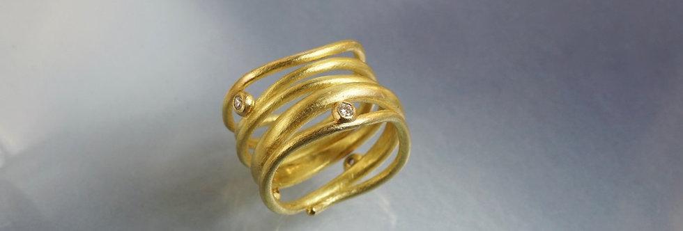 """Ring Brillant """"Goldband"""""""