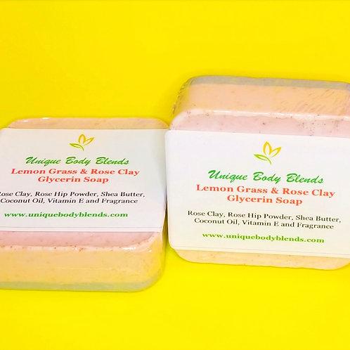 Lemon Grass & Rose Clay Soap