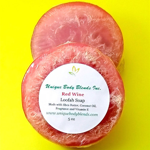 Red Wine Loofah Soap