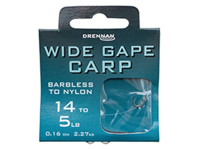 Wide Gape Carp Barbless to Nylon