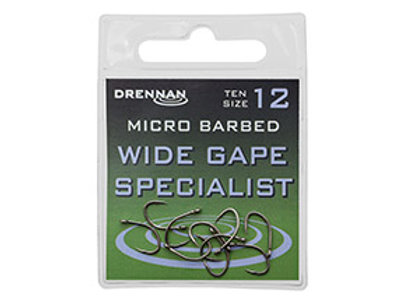 Micro Barbed Wide Gape Specialist Eyed hook