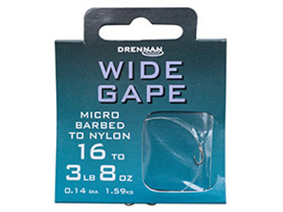 Wide Gape Hook to Nylon