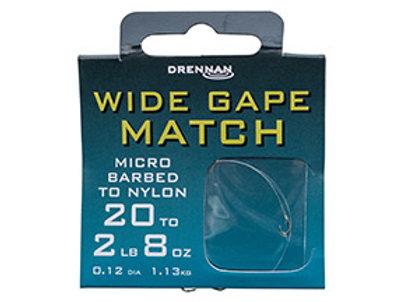Wide Gape Match Hook to Nylon