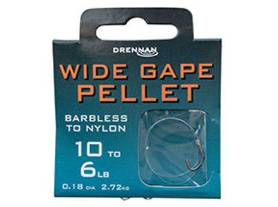 Wide Gape Pellet Barbless to Nylon