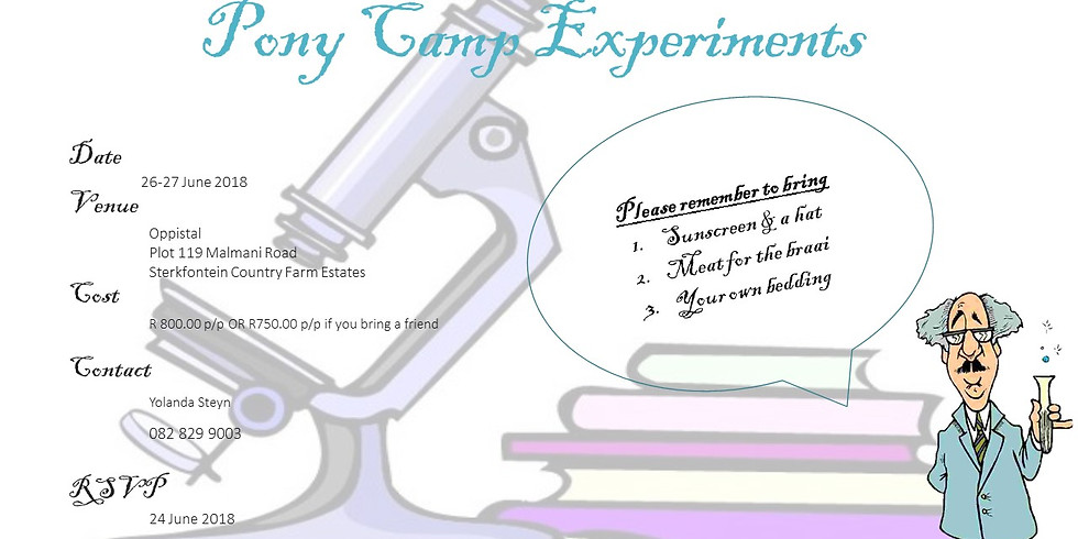 Pony Camp Experiments