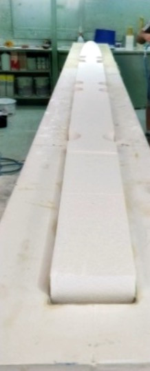 Préparation du moule de la coque