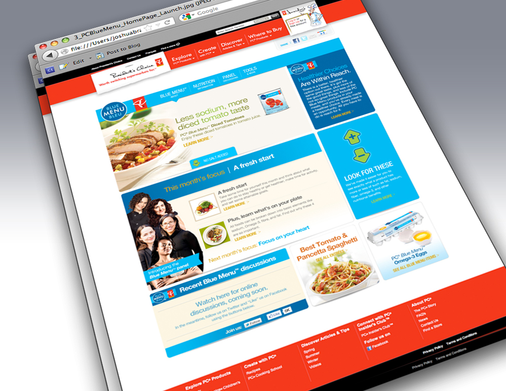 Loblaw - PC Blue Menu