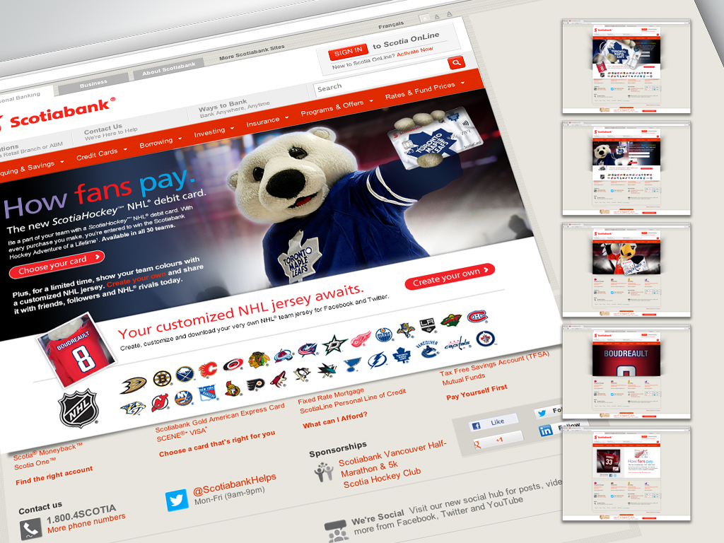 Scotiabank – NHL Debit Card Launch