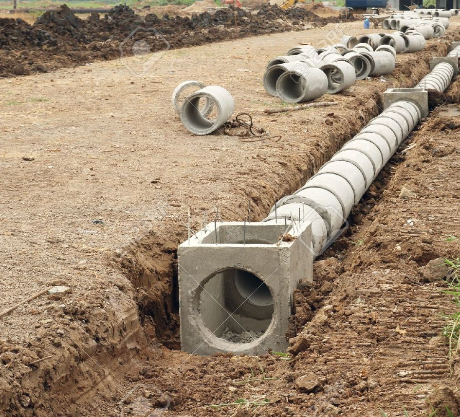 Construion of Drainage in Myanmar