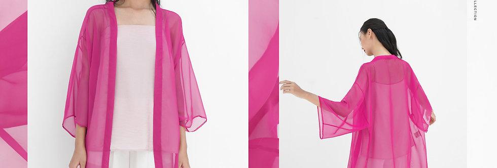 Oriel Kimono (Deep Pink)