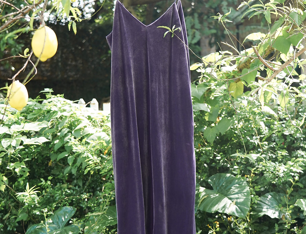 Thii Velvet Dress (Dark Purple)