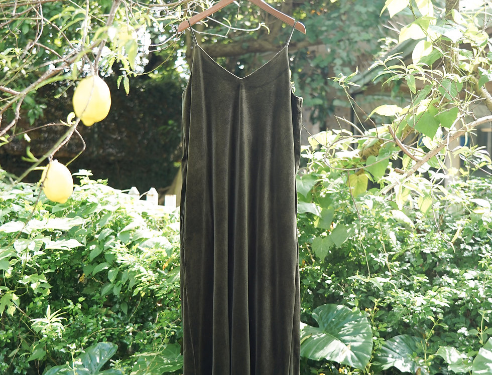 Thii Velvet Dress (Moss Green)