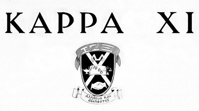 KAPPA XI-1967-68-CREST+LETTERS
