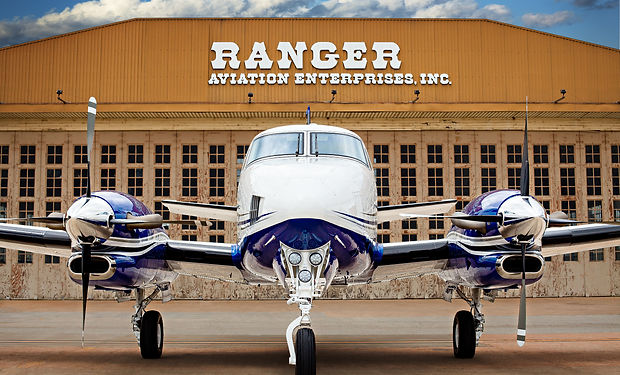 RANGER AVIATION  HANGER and KING AIR.jpg