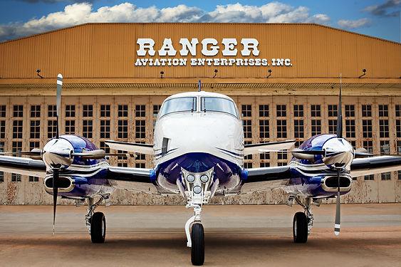RANGER AVIATION  HANGER and KING AIR.jpg