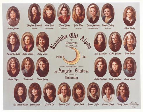 Lambda Chi Alpha Crescents 1980-81