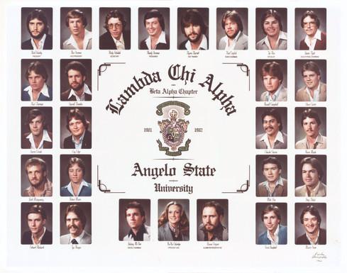 LAMBDA CHI ALPHA 1981-82