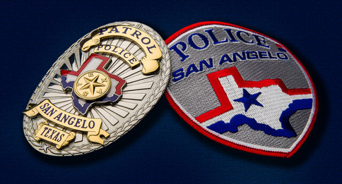 SAN ANGELO POLICE DEPT BADGES