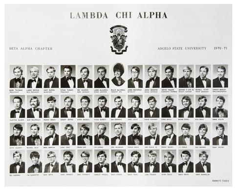 LAMBDA CHI ALPHA 1970-71