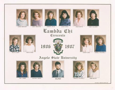 Lambda Chi Alpha Crescents 1986-87