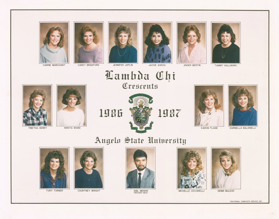 Lambda Chi Alpha Crescents 1986-87