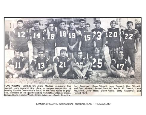 LAMBDA CHI ALPHA INTRAMURAL FOOTBALL-THE MAULERS