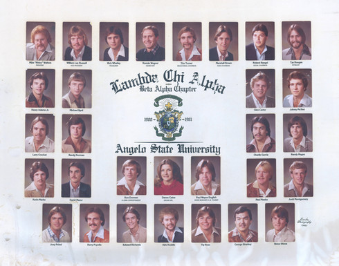 LAMBDA CHI ALPHA 1980-81