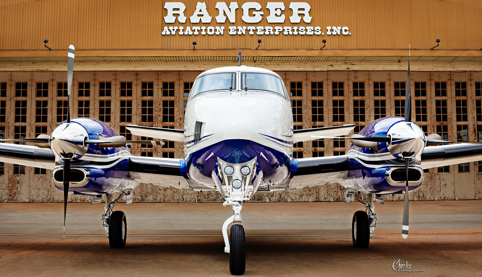 RANGER AVIATION KING AIR and HANGAR_017.