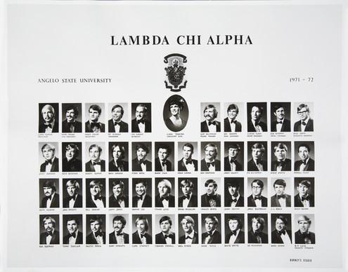 LAMBDA CHI ALPHA1971-72