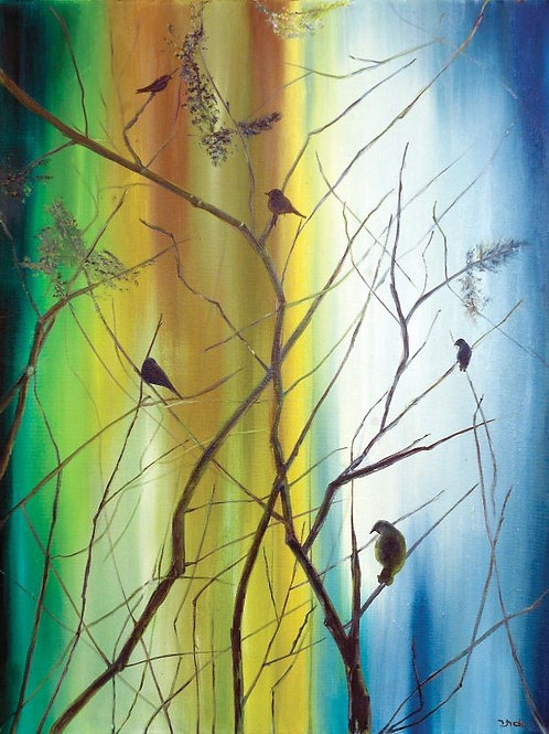 Nature Painting - The Song of the Birds