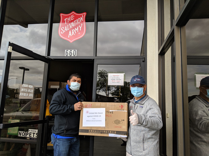 Donated masks to Salvation Army