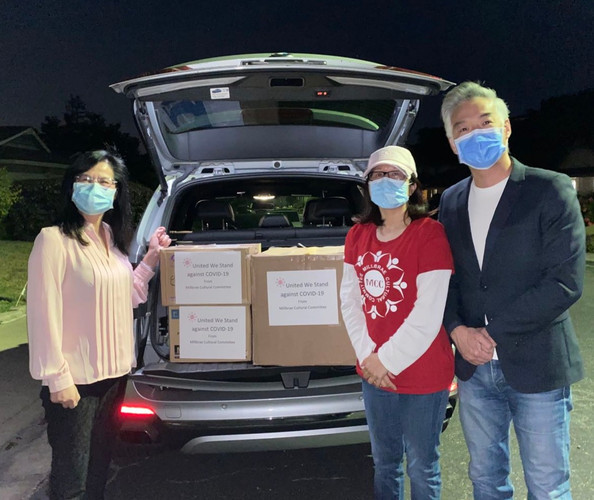 PPE donation to Chinese Hospital