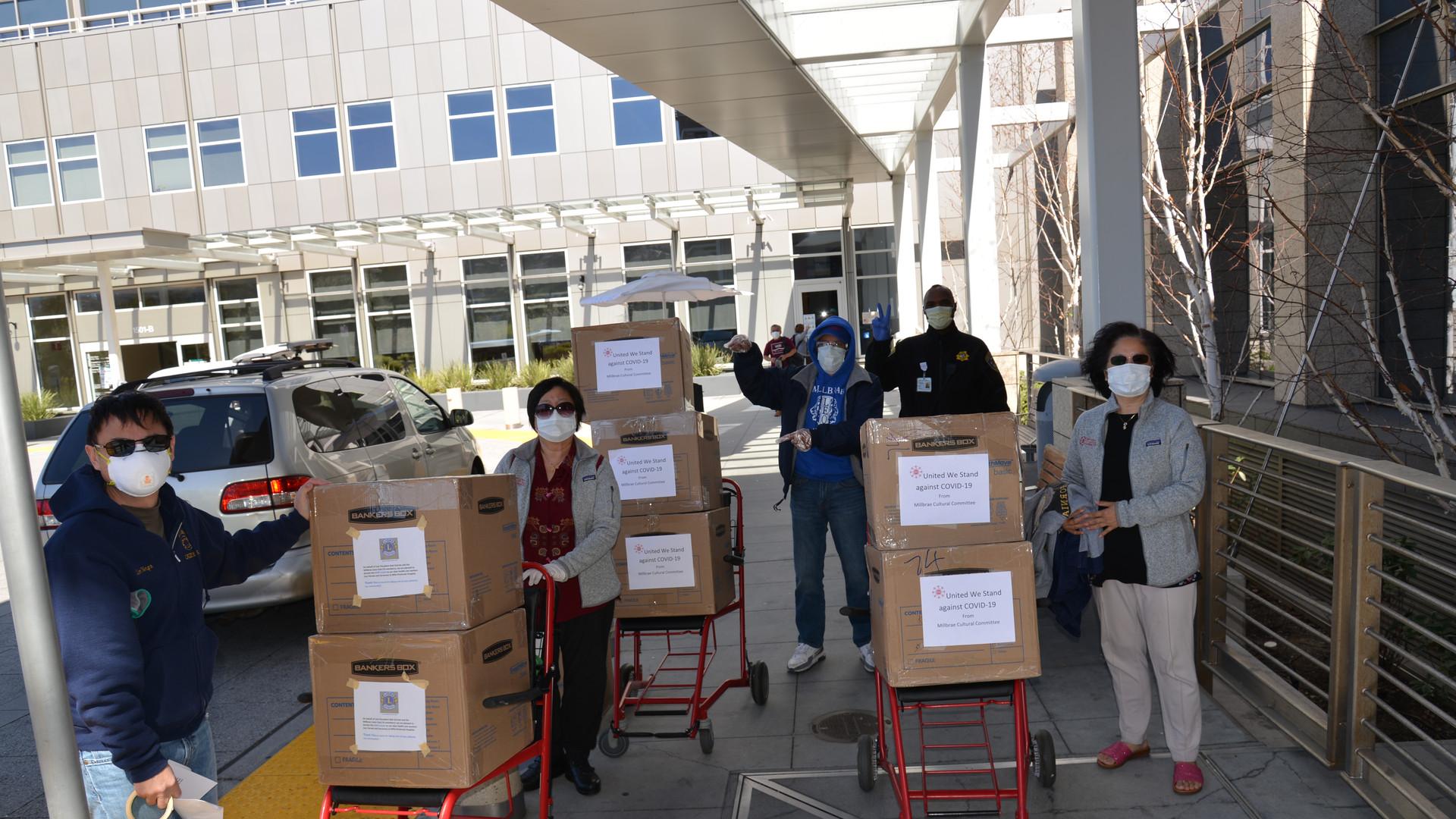 PPE donation to Peninsula Hospital