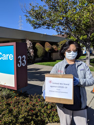 PPE donation to Millbrae Skilled Care