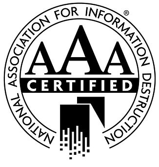NAID National Association For Information Destruction certified AAA