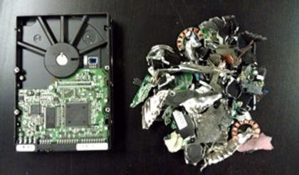 hard drive shredding IT data tape