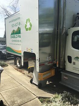 on site shredding paper document shred truck
