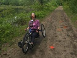 Jen Boisvert on Rockingham Rail Trail - Candia, NH