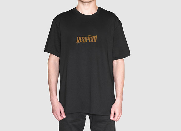 RESPETO Black Gold Mini Print Shirt