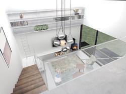 Interiér pohled z galerie