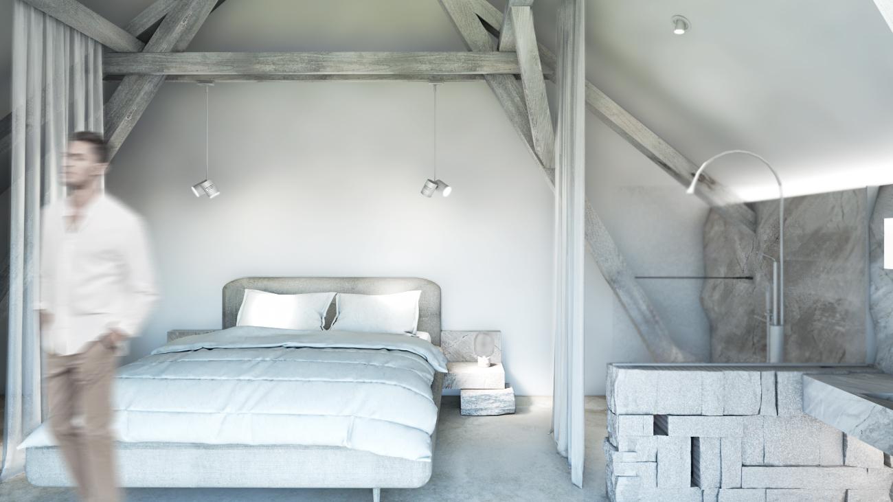 Apartmá podkroví - nová stodola